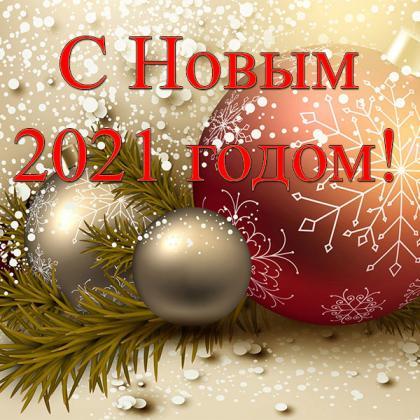 С Новым годом, друзья! Доставка заказов возобновится 11.01.2021